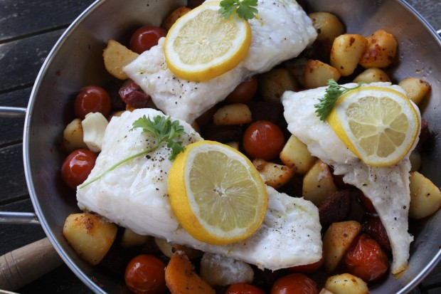 Chorizo cod recipe wish to dish 6