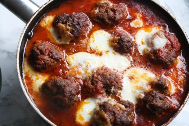 Mozarella Meatball recipe wish to dish (9)