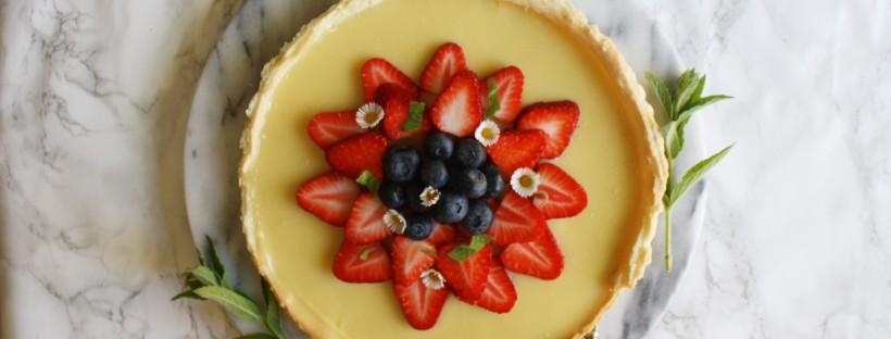 White chocolate and strawberry tart wish to dish for White chocolate and strawberry tart
