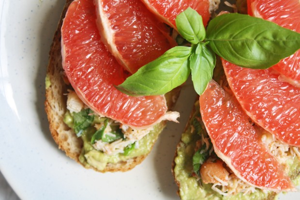 crab avocado toast with grapefruit wish to dish recipe (7)