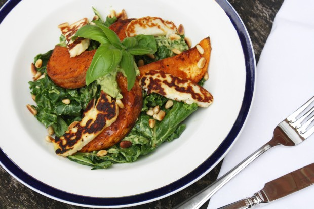 Kale, halloumi, sweet potato salad wish to wish recipe (2)