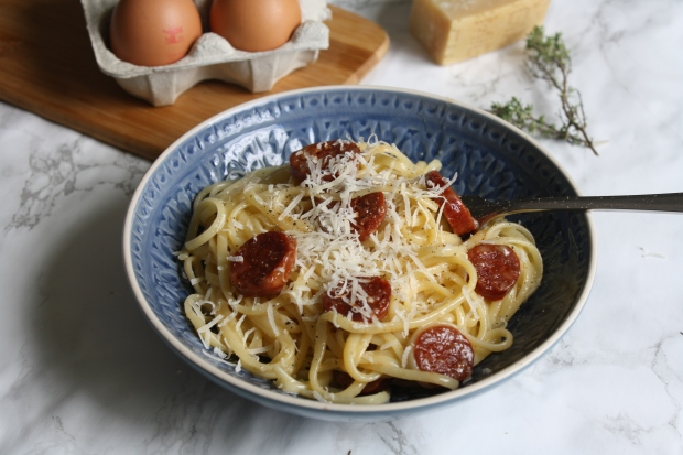 Chorizo carbonara wish to dish recipe (16)
