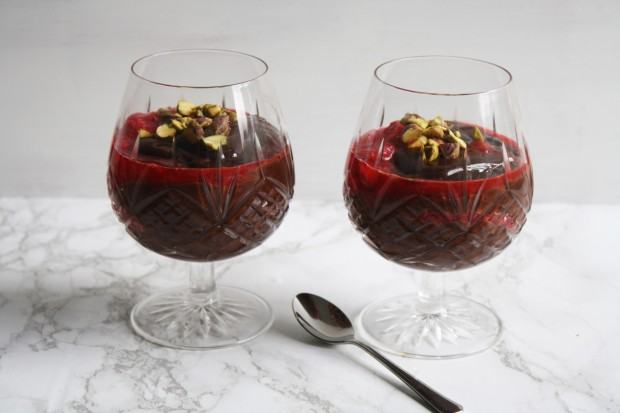 Spiced chocolate and raspberry pot recipe wish to dish (7)
