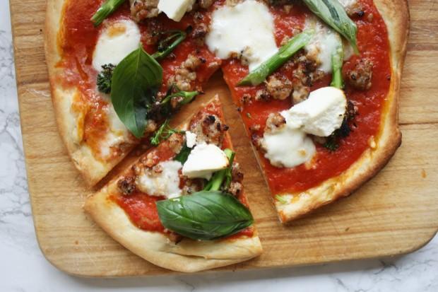 sausage and broccoli pizza recipe wish to dish (8)