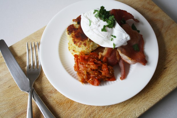 potato rosti and tomato relish brunch recipe wish to dish (3)