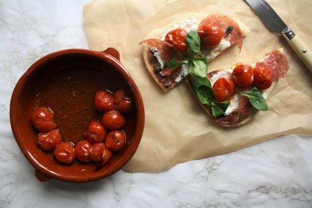 Tomato, ricotta and salami flatbread wish to dish recipe (13)