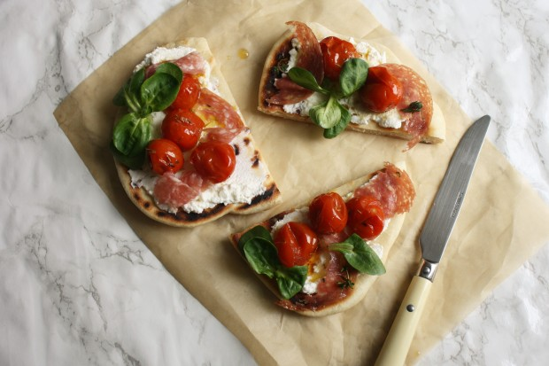 Tomato, ricotta and salami flatbread wish to dish recipe (9)